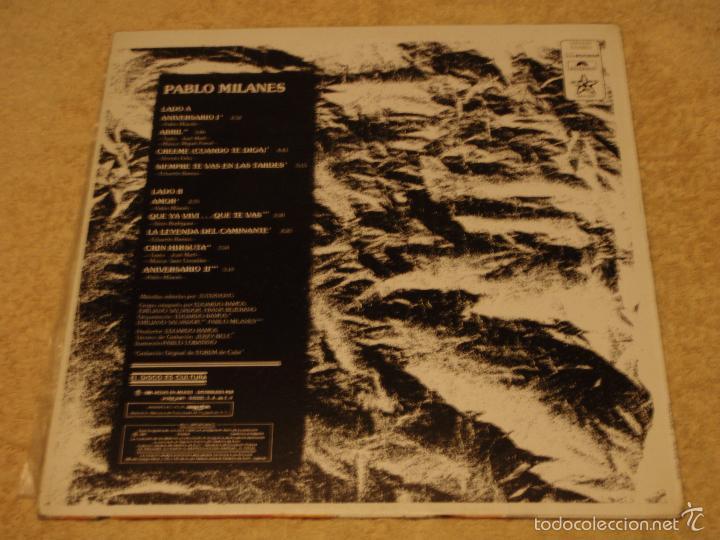 Discos de vinilo: PABLO MILANES ( ANIVERSARIO ) MEXICO -1980 LP33 - Foto 2 - 3517612