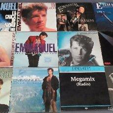 Discos de vinilo: LOTE DE 12 SINGLES DE EMMANUEL ALGUNOS SON PROMO. Lote 58191254