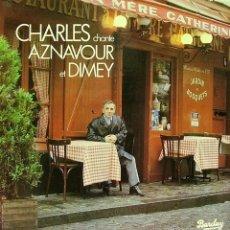 Discos de vinilo: CHARLES AZNAVOUR-CHANTE ET DIMEY LP VINILO 1983 (FRANCE). Lote 58198650