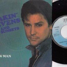Discos de vinilo: SHAKIN STEVENS AND THE SUNSETS - DONNA / OUTLAW MAN SPANISH SINGLE 45 UNIQUE BELTER. Lote 58203307