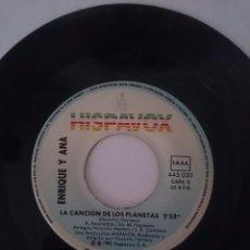 Discos de vinilo: ENRIQUE Y ANA - DONDE ESTAS ETE - LA CANCION DE LOS PLANETAS AÑO 1983 - HISPAVOX -REFM1E4BOES47DISIN. Lote 58206157