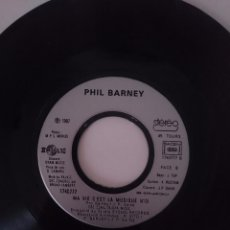 Discos de vinilo: PHIL BARNEY - UN ENFANT DE TOI - MA VIE C´EST LA MUSIQUE - AÑO 1987 -REFM1E4BOES47DISIN. Lote 58207545