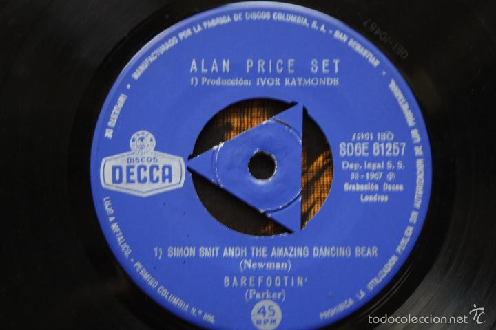 Discos de vinilo: ALAN PRICE SET- SIMON SMITH AND THE AMAZING DANCING BEAR+3-SPAIN EP 1967- w/ TRICENTRE -THE ANIMALS. - Foto 3 - 58213021