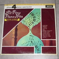 Discos de vinilo: RONNIE ALDRICH AND HIS TWO PIANOS - ALL-TIME PIANO HITS - DECCA - COLUMBIA - SPAIN - 1969 - LP86 -. Lote 58216258
