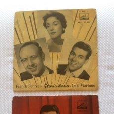 Discos de vinilo: [LOTE DE CONJUNTO:] 2 EP DE LUIS MARIANO / GLORIA LASSO; GLORIA LASSO Y LUIS MARIANO; FRANK POURCEL. Lote 58218242