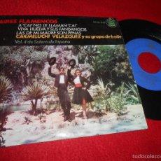 Discos de vinilo: CARMELUCHI VELAZQUEZ AIRES FLAMENCOS/A CAI NO LE LLAMAN/VIVA HUELVA FANDANGOS +1 EP 1964 HISPAVOX. Lote 58218385