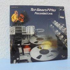 Discos de vinilo: TEN YEARS AFTER. RECORDED LIVE. DOBLE LP. FONOGRAM 1974. VER FOTOGRAFIAS ADJUNTAS.. Lote 58220894
