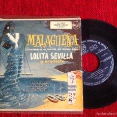 Discos de vinilo: LOLITA SEVILLA FILM LA MALAGUEÑA EP BARCELONA + 3 TEMAS. Lote 58242848