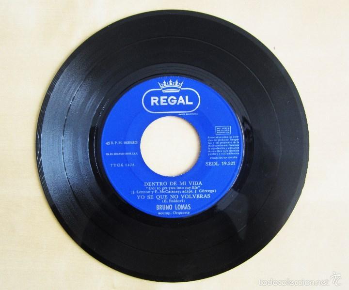 Discos de vinilo: BRUNO LOMAS - COMO AYER - EP 4 TEMAS ORIGINAL VINILO 1966 PRIMERA EDICION REGAL EMI - Foto 6 - 58244562