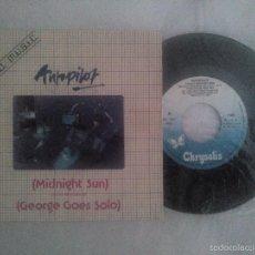 Discos de vinilo: AUTOPILOT SINGLE VINILO 1981 MIDNIGHT SUN / GEORGE GOES SOLO - ¡¡MUY RARO!!. Lote 58264428