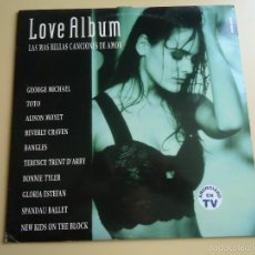 Discos de vinilo: L.P. LOVE ALBÚM, LAS MÁS BELLAS CANCIONES DE AMOR: VER LOS TÍTULOS.. Lote 58265273
