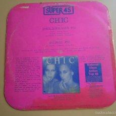 Discos de vinilo: L.P. CHIC SUPER 45 DANCE,DANCE,DANCE.COMPUESTO POR VARIOS MÚSICOS Y CANTANTES, VER . Lote 58265722