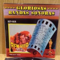 Discos de vinilo: B.S.O. BEN-HUR / MIKLOS ROSZA. LP / MGM-1981 / CALIDAD LUJO. ****/****. Lote 58273149