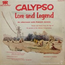 Discos de vinilo: FOLK - CALYPSO LORE & LEGEND ON COOK | PATRICK JONES PATRICKK JONES CHINEE LP. Lote 58280233