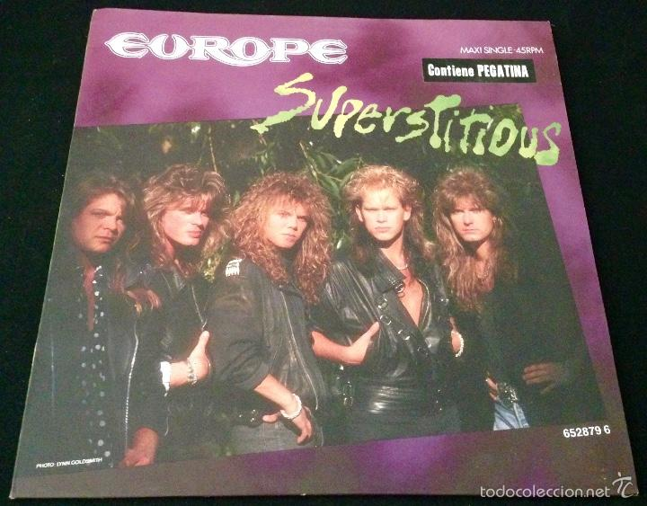 EUROPE SUPERSTITIOUS - MAXI SINGLE VINILO (Música - Discos de Vinilo - Maxi Singles - Heavy - Metal)