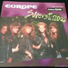 Discos de vinilo: EUROPE SUPERSTITIOUS - MAXI SINGLE VINILO. Lote 58280953