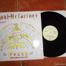 Discos de vinilo: PAUL MCCARTNEY PRESS MAXI SINGLE VINILO DEL AÑO 1986 ESPAÑA THE BEATLES CONTIENE 4 TEMAS. Lote 58283526
