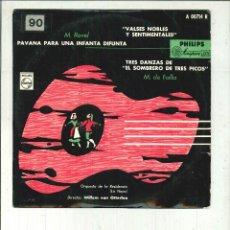 Discos de vinilo: PAVANA PARA UNA INFANTA DIFUNTA. M. RAVEL. Lote 58289552