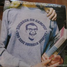 Discos de vinilo: LP-DAVE BRUBECK QUINTET ON CAMPUS DOBLE LP CBS 67246 SPAIN 1972 JAZZ. Lote 58297205