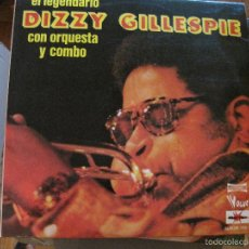 Discos de vinilo: LP-DIZZY GILLESPIE CON ORQUESTA Y COMBO MARFER 126 DOBLE LP JAZZ. Lote 58297217