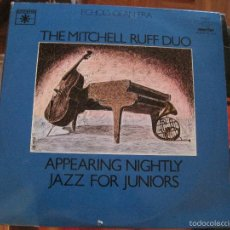 Discos de vinilo: LP-THE MITCHELL RUFF DUO APPEARING NIGHTLY JAZZ FOR JUNIORS DOBLE LP MARFER 26 . Lote 58297242