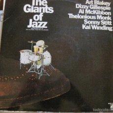 Discos de vinilo: LP-THE GIANTS OF JAZZ BLAKEY GILLESPIE MCKIBBON MONK STITT WINDING ATLANTIC 421105/6 DOBLE LP JAZZ . Lote 58297519