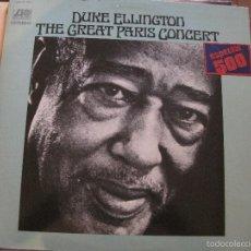 Discos de vinilo: LP-DUKE ELLINGTON THE GREAT PARIS CONCERT ATLANTIC HISPAVOX 50027/8 DOBLE LP JAZZ. Lote 58297637