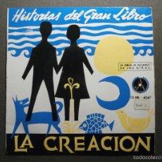 Discos de vinilo: HISTORIAS DEL GRAN LIBRO - LA CREACIÓN - 13 TTB-4047 - 1961 - EP - LA BIBLIA AL ALCANCE DE TODOS. Lote 58303084