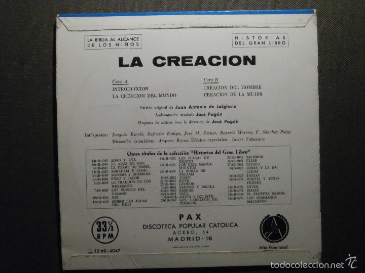 Discos de vinilo: HISTORIAS DEL GRAN LIBRO - LA CREACIÓN - 13 TTB-4047 - 1961 - EP - LA BIBLIA AL ALCANCE DE TODOS - Foto 2 - 58303084