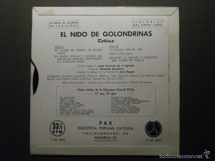 Discos de vinilo: HISTORIAS DEL GRAN LIBRO - TOBIAS - 2 TTB-4025 - 1961 - EP - LA BIBLIA AL ALCANCE DE TODOS - Foto 2 - 58303309