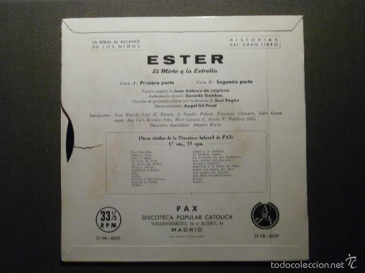 Discos de vinilo: HISTORIAS DEL GRAN LIBRO - ESTER - 21 TTB-4059 - 1961 - EP - LA BIBLIA AL ALCANCE DE TODOS - Foto 2 - 58303329