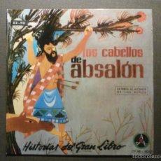 Discos de vinilo: HISTORIAS DEL GRAN LIBRO - ABSALON - 29 TTB-4067 - 1961 - EP - LA BIBLIA AL ALCANCE DE TODOS. Lote 58303400