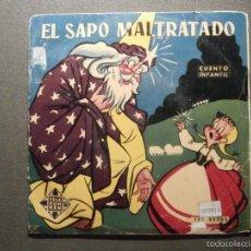 Discos de vinilo: CUENTO INFANTIL - EL SAPO MALTRATADO - TELEFUNKEN - CARMEN GARCÍA BELLVER - TFJ 95303. Lote 58303462