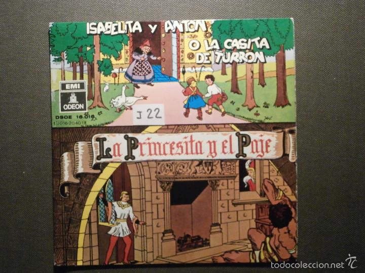CUENTO INFANTIL - LA PRINCESITA Y EL PAJE + ISABELITA Y ANTÓN O LA CASITA DE TURRON - EMI ODEON (Música - Discos de Vinilo - EPs - Otros estilos)