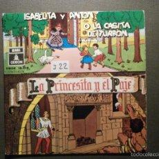 Discos de vinilo: CUENTO INFANTIL - LA PRINCESITA Y EL PAJE + ISABELITA Y ANTÓN O LA CASITA DE TURRON - EMI ODEON. Lote 58303477