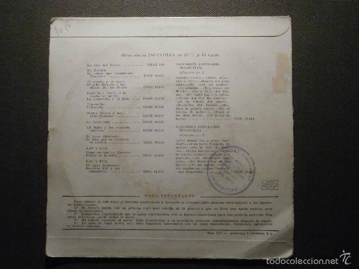 Discos de vinilo: DISCO - VINILO - EP Cuento Infantil - LA BELLA DURMIENTE DEL BOSQUE + EL FLAUTISTA DE HAMELIN, ODEON - Foto 2 - 58303512
