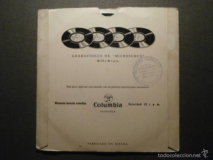 Discos de vinilo: CUENTO INFANTIL - EL LOBO Y LOS CABRITILLOS + EL RUISEÑOR CHINO - COLUMBIA EDGE 70179 - 1954 - Foto 2 - 58303557