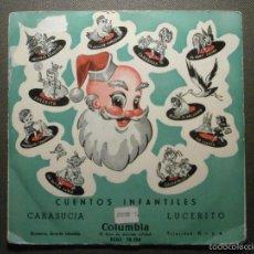 Discos de vinilo: CUENTOS INFANTILES - CARASUCIA + LUCERITO - COLUMBIA EDGE 70154 - 1954. Lote 58303636