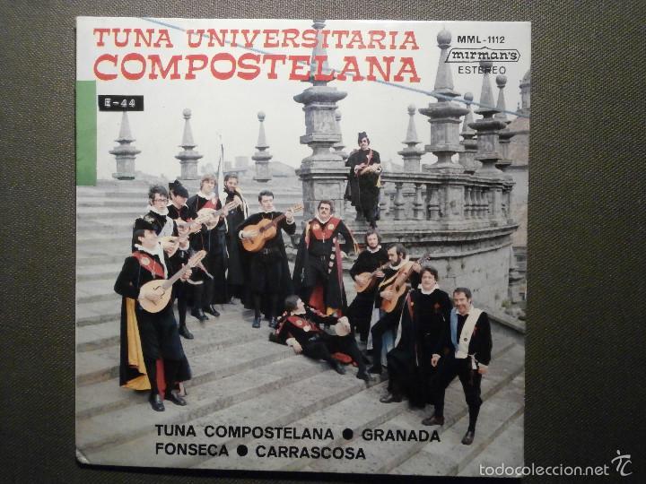 DISCO - VINILO - EP - TUNA UNIVERSITARIA COMPOSTELANA - MIRMAN´S - 1975 (Música - Discos de Vinilo - EPs - Flamenco, Canción española y Cuplé)