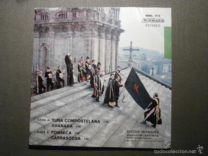 Discos de vinilo: DISCO - VINILO - EP - TUNA UNIVERSITARIA COMPOSTELANA - MIRMAN´S - 1975 - Foto 2 - 58303945