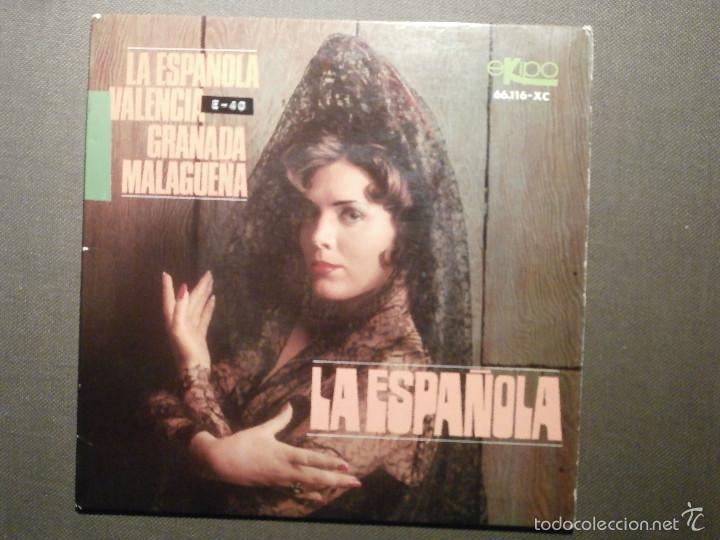 DISCO - VINILO - EP - LA ESPAÑOLA - VALENCIA - GRANADA - MALAGUEÑA - ANTONIO APRUZZESE - EKIPO 1966 (Música - Discos de Vinilo - EPs - Flamenco, Canción española y Cuplé)