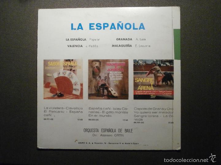 Discos de vinilo: DISCO - VINILO - EP - LA ESPAÑOLA - VALENCIA - GRANADA - MALAGUEÑA - ANTONIO APRUZZESE - EKIPO 1966 - Foto 2 - 58303958