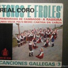 Discos de vinilo: DISCO - VINILO - EP - TOXOS E FROLES - REAL CORO - CANCIONES GALLEGAS / 3 - HISPAVOX 1963. Lote 58303974