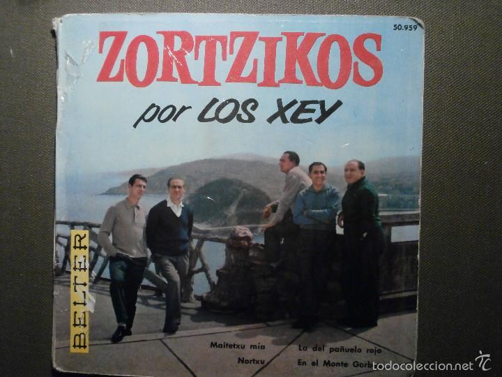 DISCO - VINILO - EP - ZORTZIKOS POR LOS XEY - BELTER - 1961- (Música - Discos de Vinilo - EPs - Otros estilos)