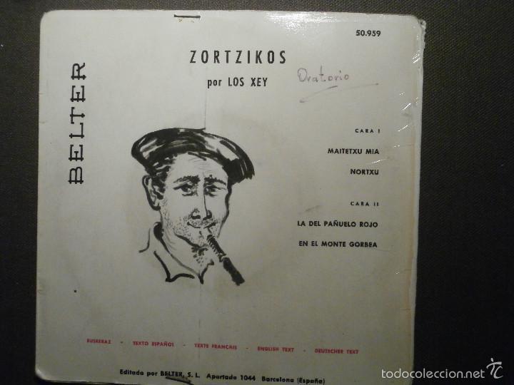 Discos de vinilo: DISCO - VINILO - EP - ZORTZIKOS POR LOS XEY - BELTER - 1961- - Foto 2 - 58303998