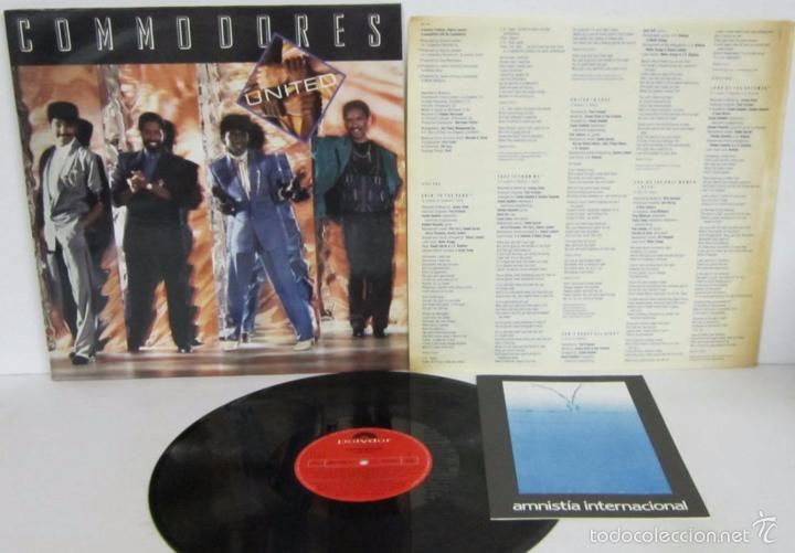 COMMODORES - UNITED - LP - POLYDOR 1986 SPAIN CON LETRAS - N MINT (Música - Discos - LP Vinilo - Funk, Soul y Black Music)