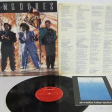 Discos de vinilo: COMMODORES - UNITED - LP - POLYDOR 1986 SPAIN CON LETRAS - N MINT. Lote 58319742