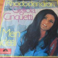 Discos de vinilo: GIGLIOLA CINQUETTI - RHODODENDRON/ MEIN IDEAL - SINGLE ALEMAN. Lote 58323704