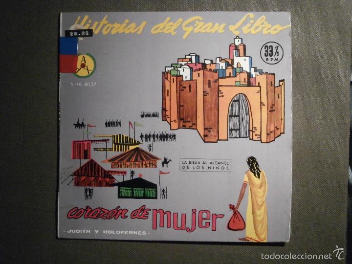 HISTORIAS DEL GRAN LIBRO - CORAZÓN DE MUJER - 5 TTB-4037 - 1961 - LA BIBLIA AL ALCANCE DE TODOS (Música - Discos de Vinilo - EPs - Otros estilos)