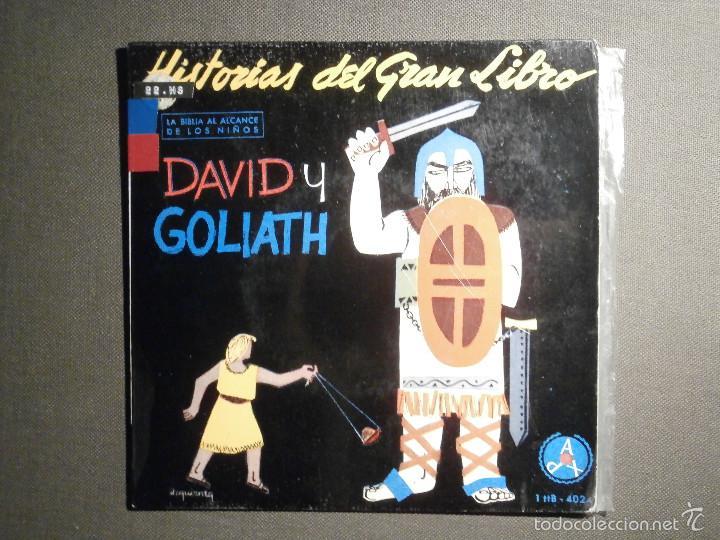 HISTORIAS DEL GRAN LIBRO - DAVID Y GOLIATH - 1 TTB-4024 - 1961 - LA BIBLIA AL ALCANCE DE TODOS (Música - Discos de Vinilo - EPs - Otros estilos)